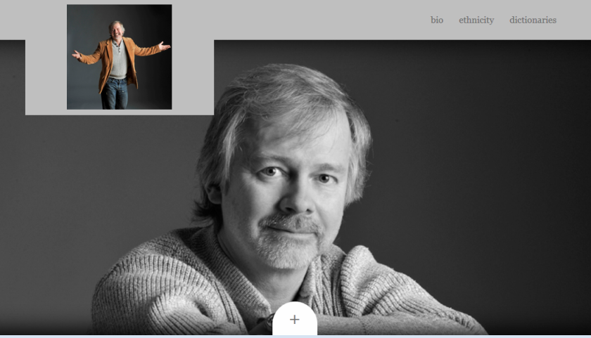 Screenshot of John Smelcer's website.