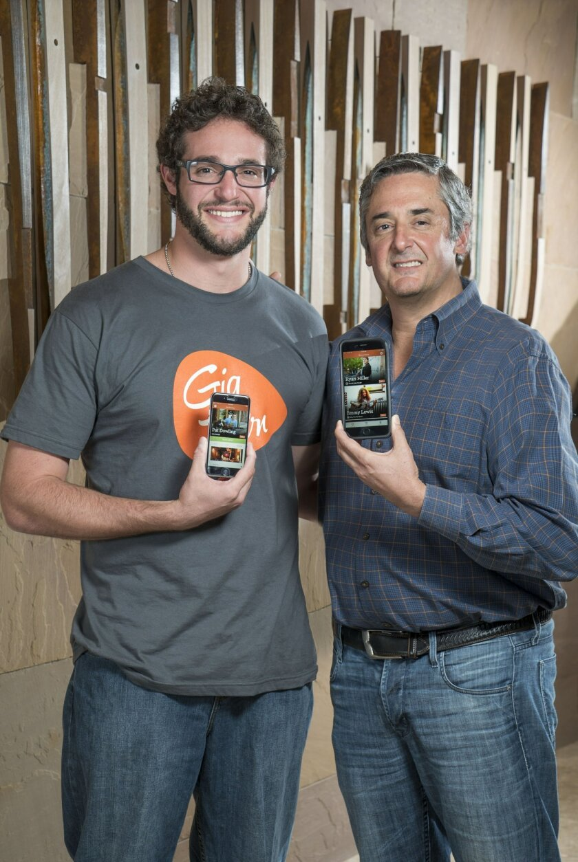Andy Altman, left, and father Steve Altman co-founded an e-commerce marketplace called GigTown around local musicians.