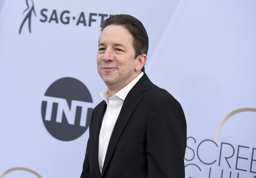 """FILE - In a Sunday, Jan. 27, 2019 file photo, Brian Tarantina arrives at the 25th annual Screen Actors Guild Awards at the Shrine Auditorium & Expo Hall, in Los Angeles. Tarantina, a character actor whose most recent role was in """"The Marvelous Mrs. Maisel,"""" has died in his Manhattan home. The New York Police Department says officers responded to the apartment on West 51st Street shortly before 1 a.m. Saturday, Nov. 2, 2019. They found Tarantina on his couch, fully clothed but unconscious and unresponsive. He was pronounced dead at the scene. He was 60.( Photo by Jordan Strauss/Invision/AP, File)"""