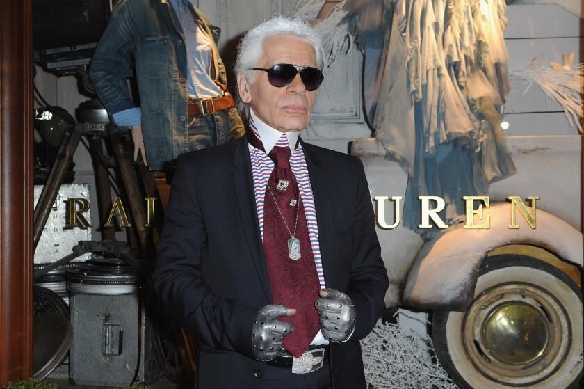 Karl Lagerfeld at the 2010 Ralph Lauren Paris flagship opening