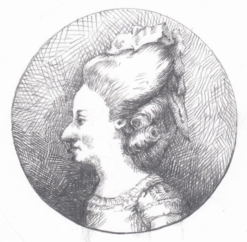 """An illustration of Elisabeth from the novel """"little."""" Credit: Illustrations ? Edward Carey / Riverhe"""