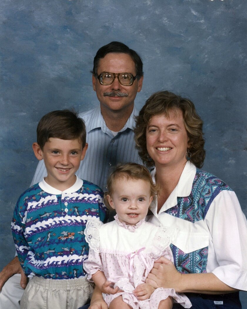 The Holmes family in 1994.