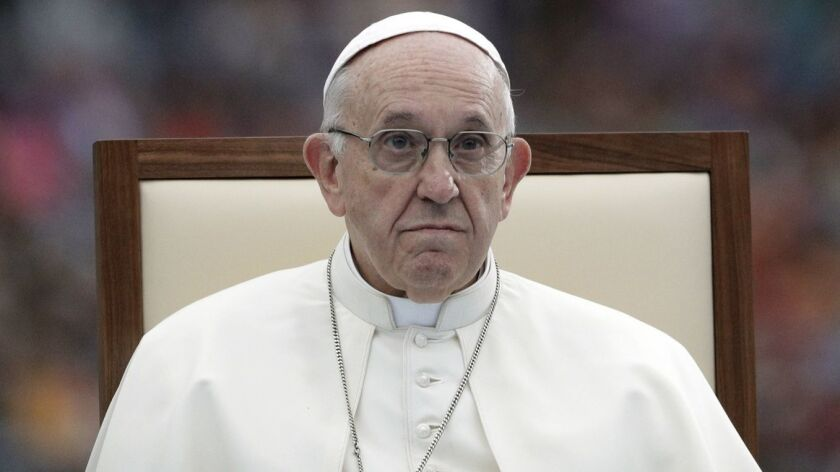 Pope Francis attends the Festival of Families in Croke Park Stadium in Dublin, Ireland, Saturday, Au