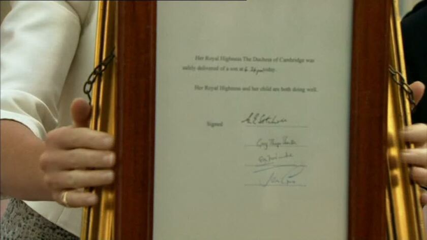 Royal baby announcement