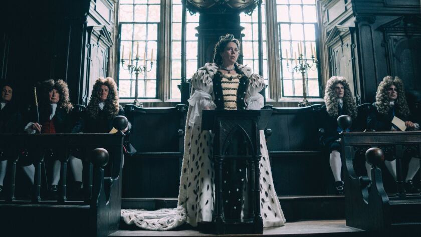 **HOLIDAY SNEAKS 2018-DO NOT USE PRIOR TO NOV. 4, 2018***Olivia Colman in the film THE FAVOURITE. Ph