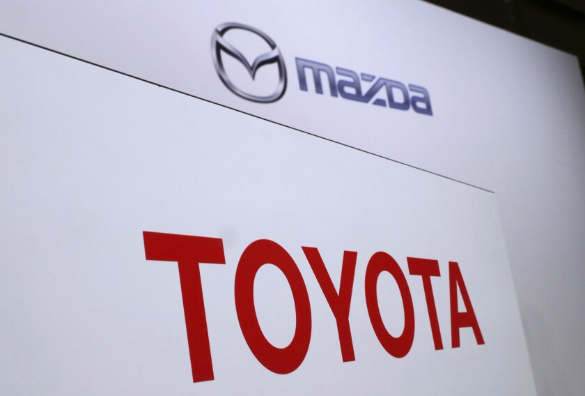 Japanese automakers Toyota and Mazda have picked Alabama as the site of a new $1.6 billion joint-venture auto manufacturing plant, a person briefed on the decision said Tuesday, Jan. 9, 2018.