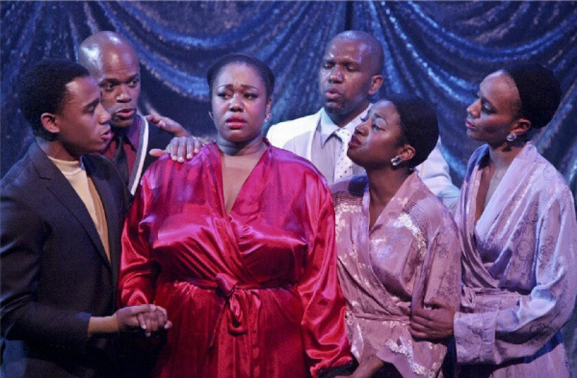 """A scene from the revival of """"Dreamgirls"""" at the MET Theatre."""
