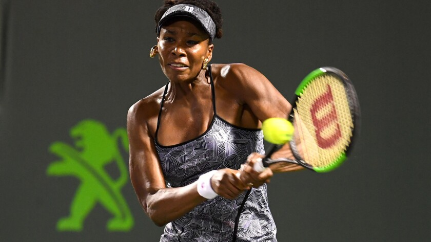 Venus Williams is looking to win her first title at Key Biscayne since 2001.