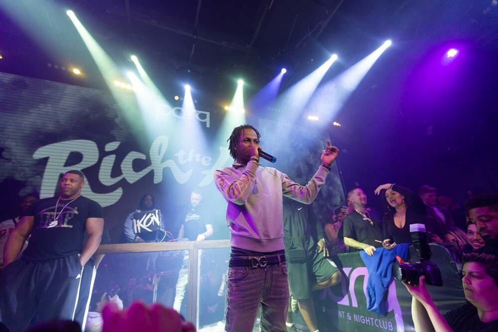 Queens-born rapper Rich the Kid graced San Diego with his presence at Parq nightclub on Friday, Nov. 9, 2018.