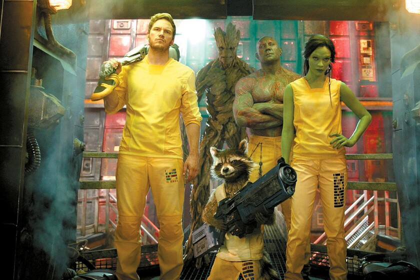"A scene from James Gunn's ""Guardians of the Galaxy."""
