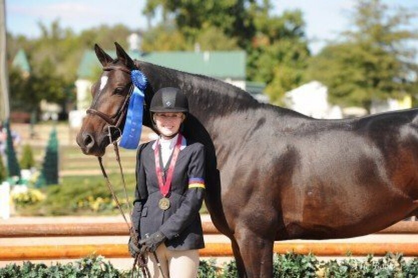 Savanah Stuart and Andover won the national championship at the U.S. Hunter and Jumper Association's Capital Challenge Horse Show in Upper Marlboro, Md., in early October. Courtesy photo