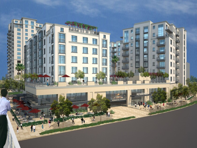 A rendering shows the proposed Casden West L.A. development slated for Pico and Sepulveda boulevards.
