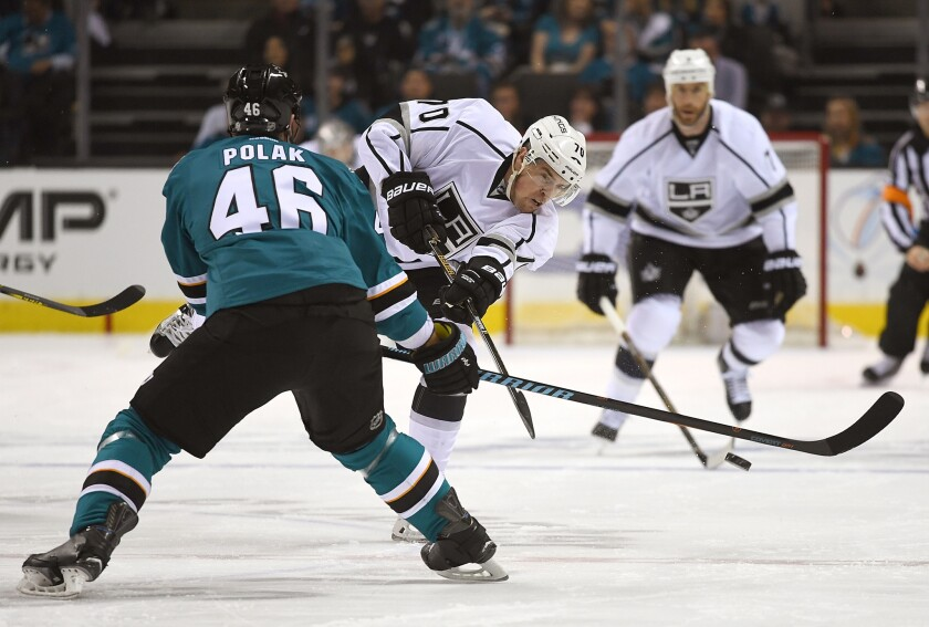 Tanner Pearson nearly put Kings in a hole before reviving their playoff hopes against Sharks