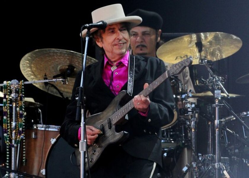 Bob Dylan performs at the Hop Farm Festival in Paddock Wood, Britain.