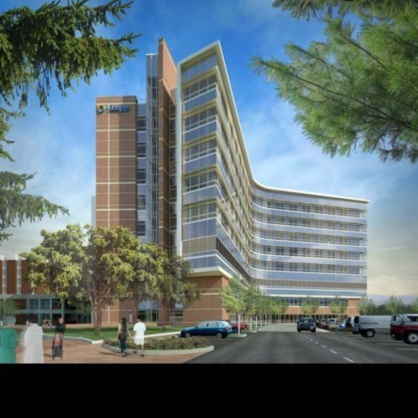Artist's rendering shows the southeast view of the Scripps Cardiovascular Institute. Courtesy: ScrippsHealth