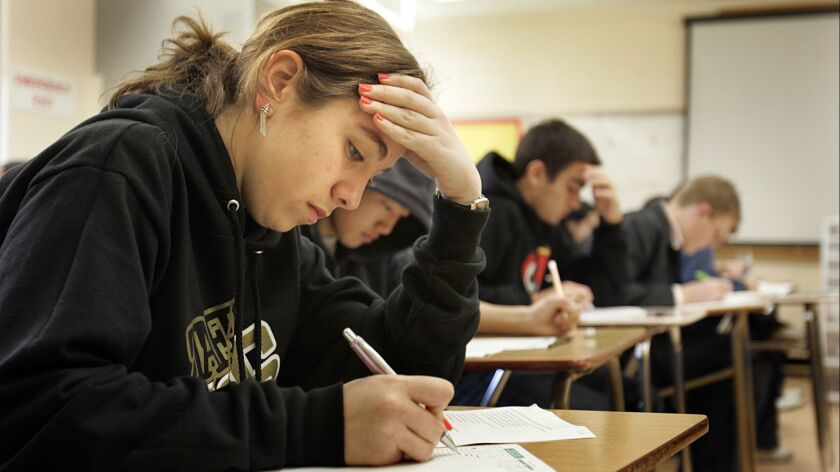 High school test takers.
