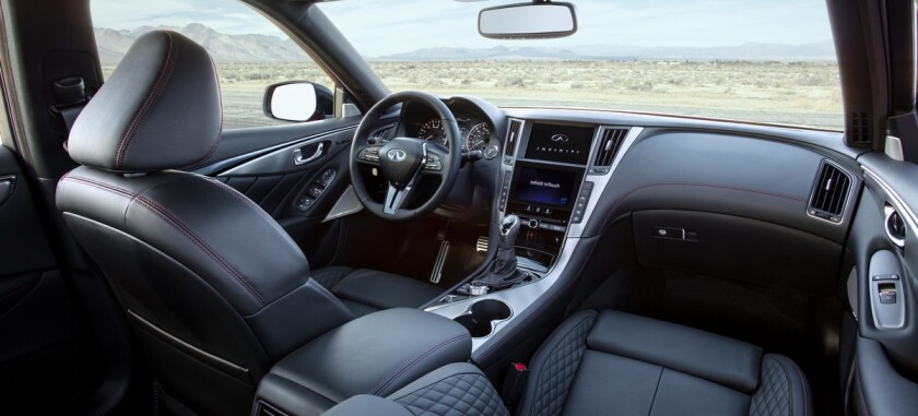 Special Red Sport features include quilted leather-trimmed upholstery with red stitching throughout the cabin.
