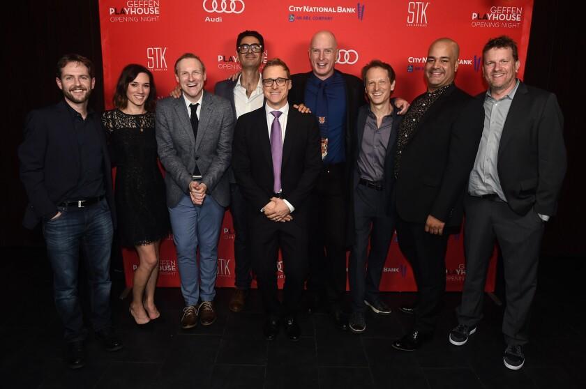 Director and Geffen Playhouse Artistic Director Matt Shakman, John Bobek, Helen Sadler, Hugo Armstro