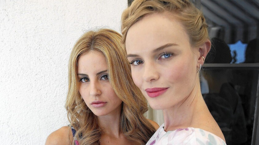 Kate Bosworth, right, is Style Thief's chief marketing officer. Samantha Russ, left, dreamed up the fashion-identification app.