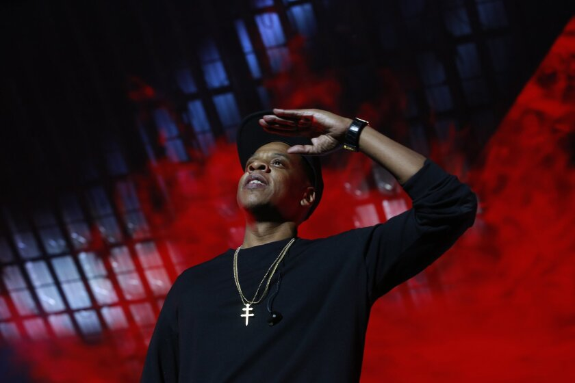 An eight-year-old copyright infringement lawsuit against rapper Jay-Z, shown performing Oct. 20, 2015, in Brooklyn, N.Y., was dismissed this week by a judge in Los Angeles.