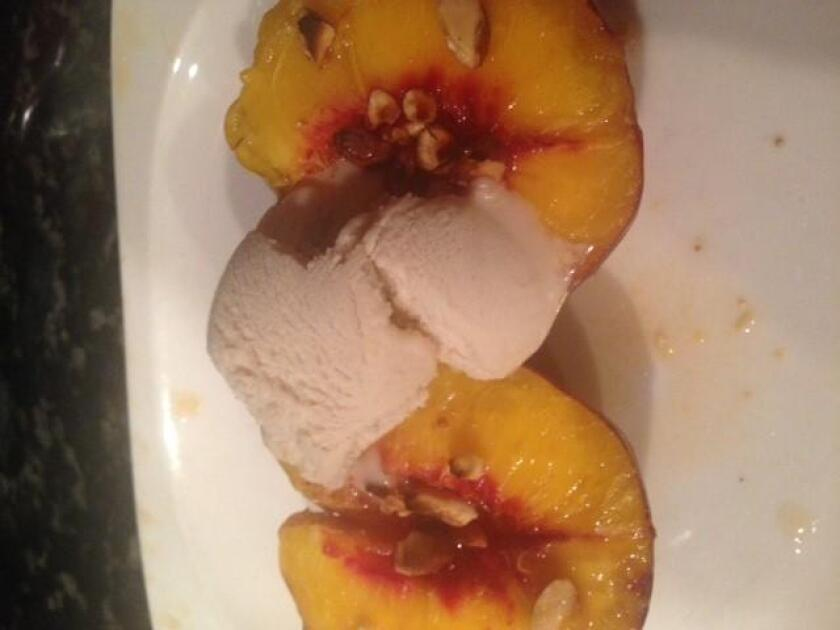 Grilled Maple Ginger Nectarines