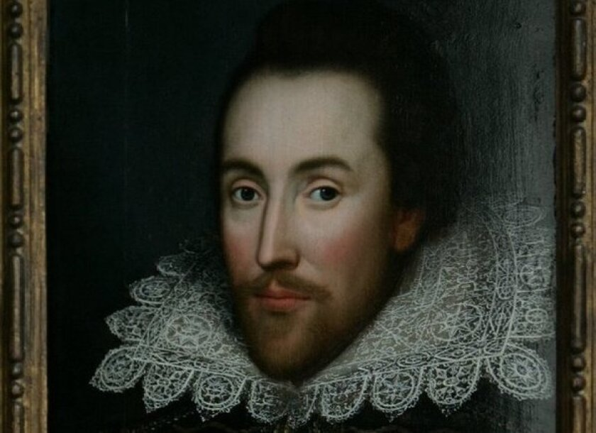 Portrait of William Shakespeare, who researchers say was a tax scofflaw and grain hoarder.