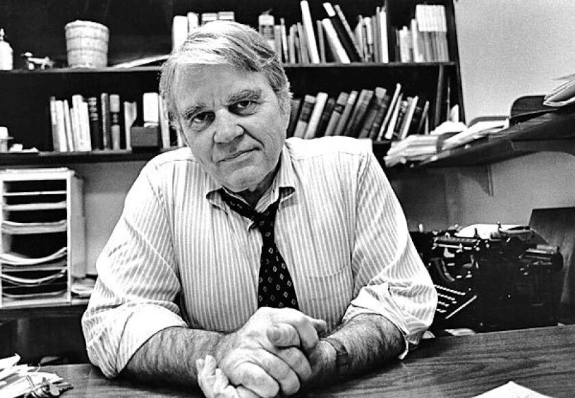 """Andy Rooney in 1979. Rooney was a fixture on """"60 Minutes"""" until he retired in October after 33 years."""