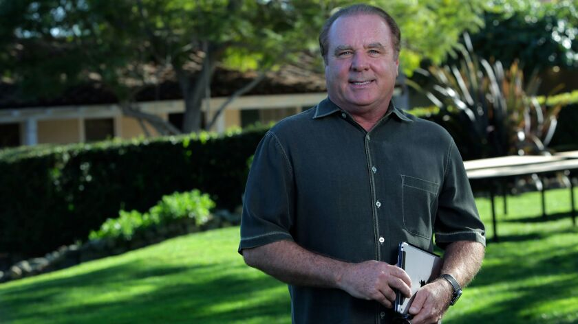 Owen Perry at the Inn at Rancho Santa Fe Friday. photo by Bill Wechter