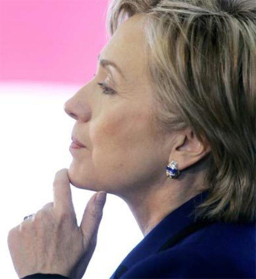 HILLARY CLINTON: Website blurbs have begun promoting her softer aspects.