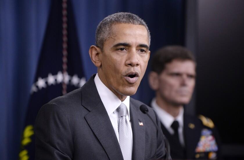 President Obama speaks on Islamic Stateinthe Pentagon briefing room on Dec. 14.