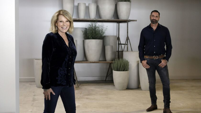 LOS ANGELES, CA -- OCTOBER 25, 2018: Laurie Resnick and Greg Salmeri are co-owners of Rolling Greens