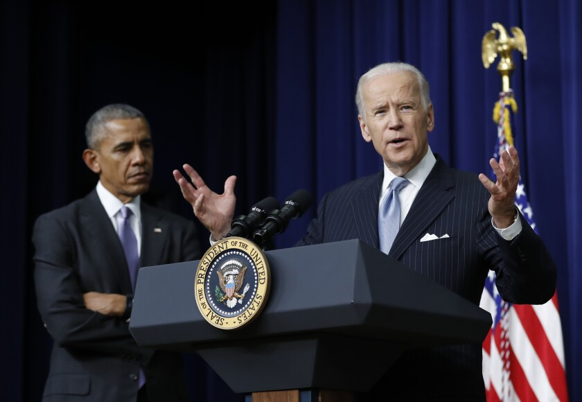 In 2016, Vice President Joe Biden speaks before President Obama's signature of the 21st Century Cures Act.