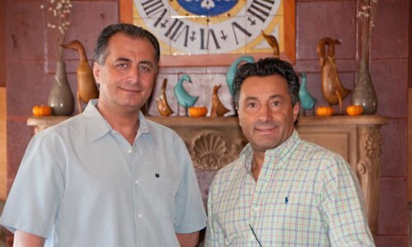 From left: Antonio Viscito and Sal Ercolano, owners of Villa Capri restaurant, located in Carmel Valley and in Poway.