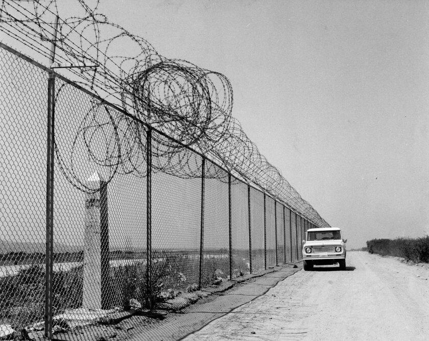 Épocas más tranquilas. La frontera entre México y los Estados Unidos en Tijuana, en 1922.U-T San Diego/Archivo