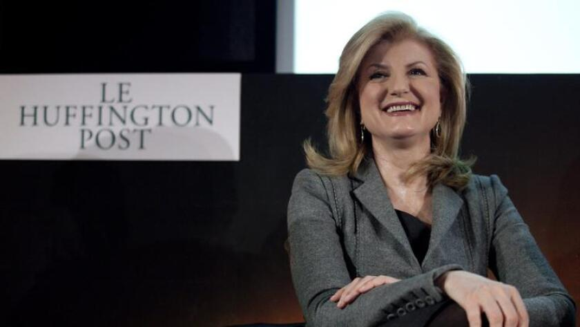 Arianna Huffington is pictured.