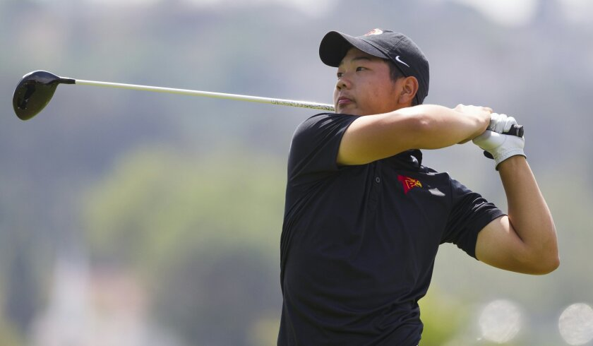 Torrey Pines junior Kaiwen Liu won the San Diego Section title with a record 14-under-par 130 over two rounds.