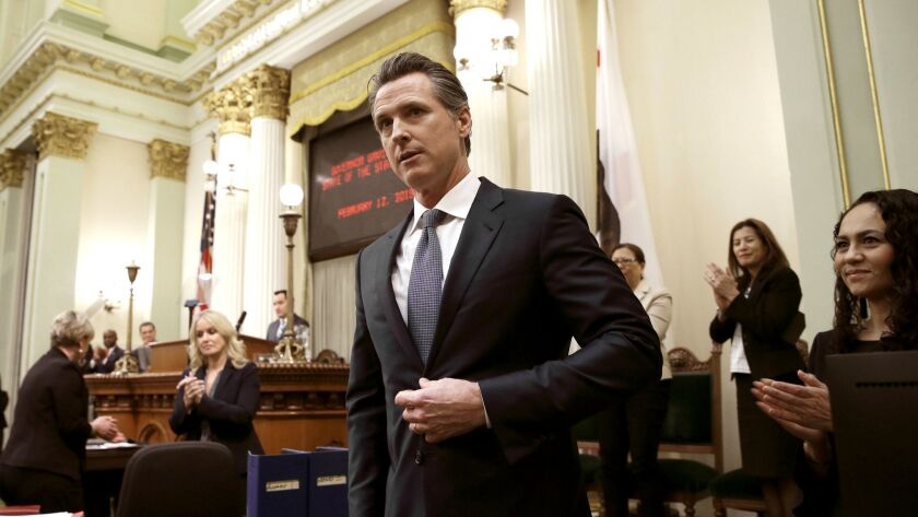 California Gov. Gavin Newsom at the state Capitol.