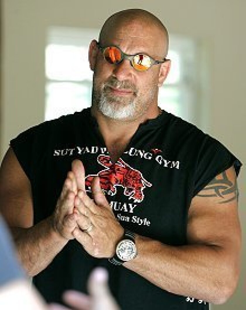 Pro wrestler Bill Goldberg now hosts a home-makeover program on the DIY network.