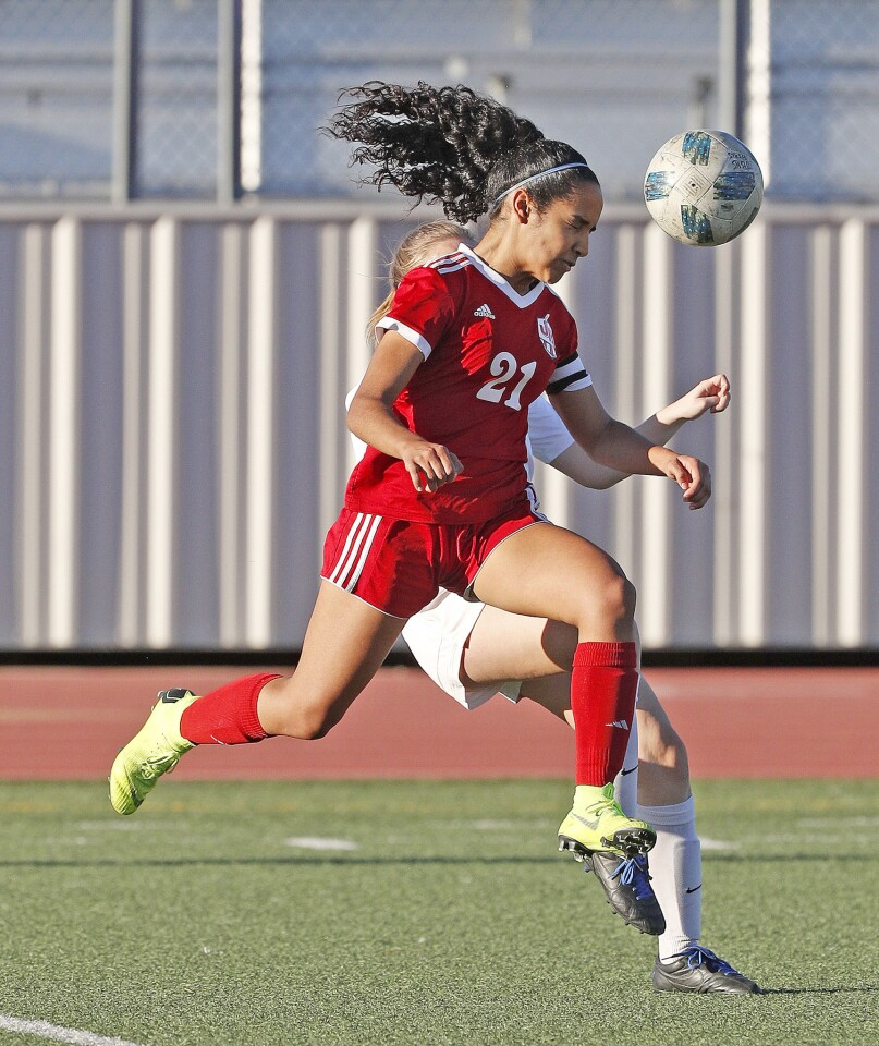 Photo Gallery: Burroughs vs. Pasadena in Pacific League girls' soccer