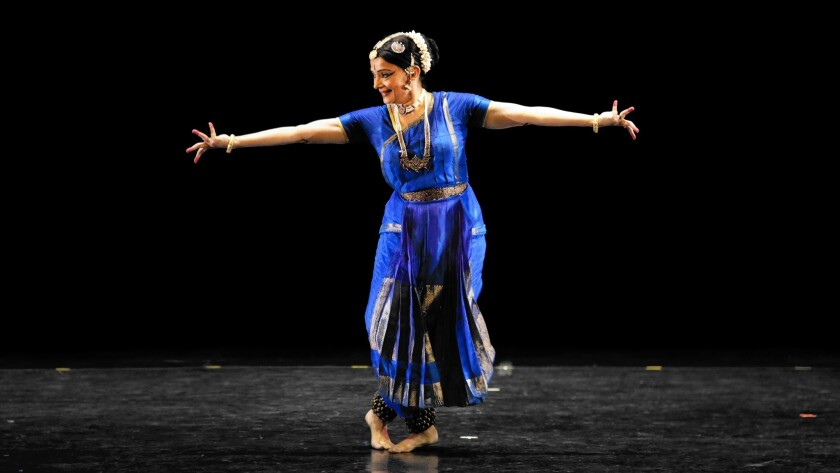 Malavika Sarukkai at the Broad Stage in Santa Monica.