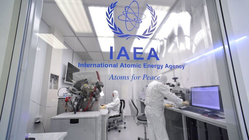 Environmental samples from nuclear sites are analyzed at the IAEA's laboratory in Seibersdorf, Austr
