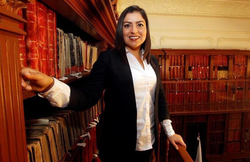 Fotografía fechada el 11 de noviembre de 2018, de la alcaldesa de Puebla, Claudia Rivera Vivanco, durante una entrevista con Efe, en la ciudad de Puebla (México). EFE