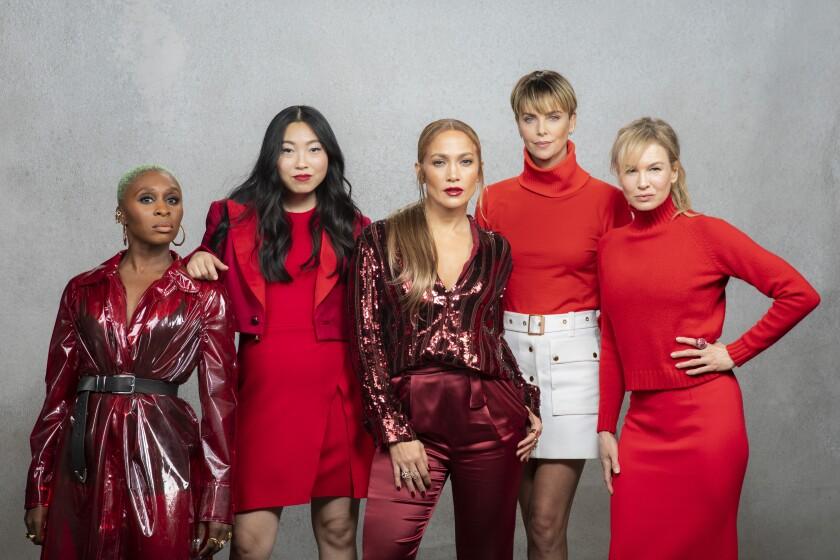 Cynthia Erivo, Nora Lum (Awkwafina), Jennifer Lopez, Charlize Theron and Renee Zellweger