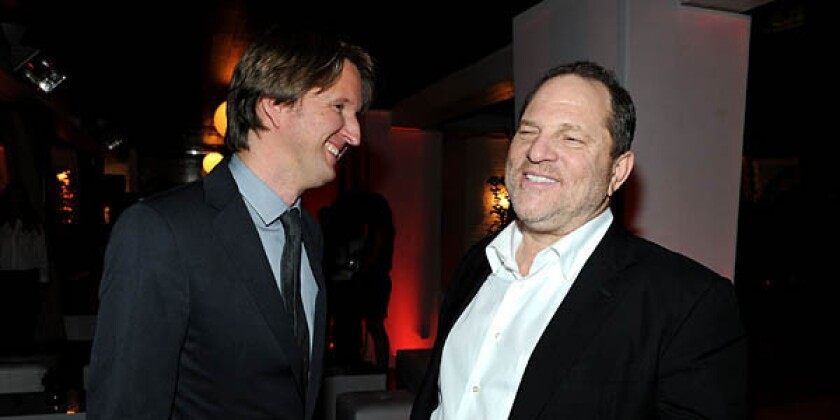 """""""Les Miserables"""" director Tom Hooper and producer Harvey Weinstein may have reason to party Sunday night."""