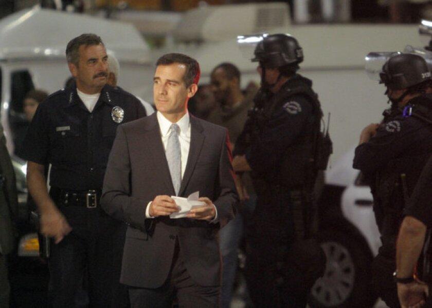 Mayor Eric Garcetti announces shake-up of LAPD commission