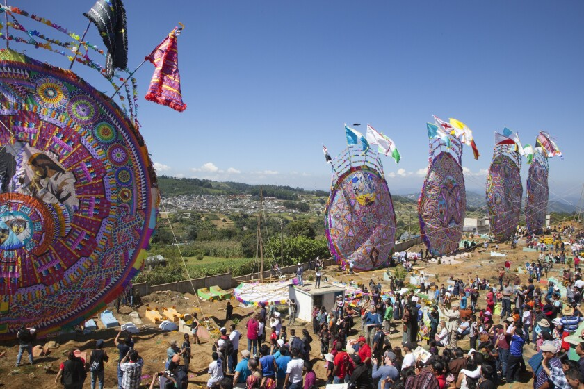 The Giant Kite Festival in Santiago Sacatepéquez, Guatemala, is one of the cultural stops on the 2016.