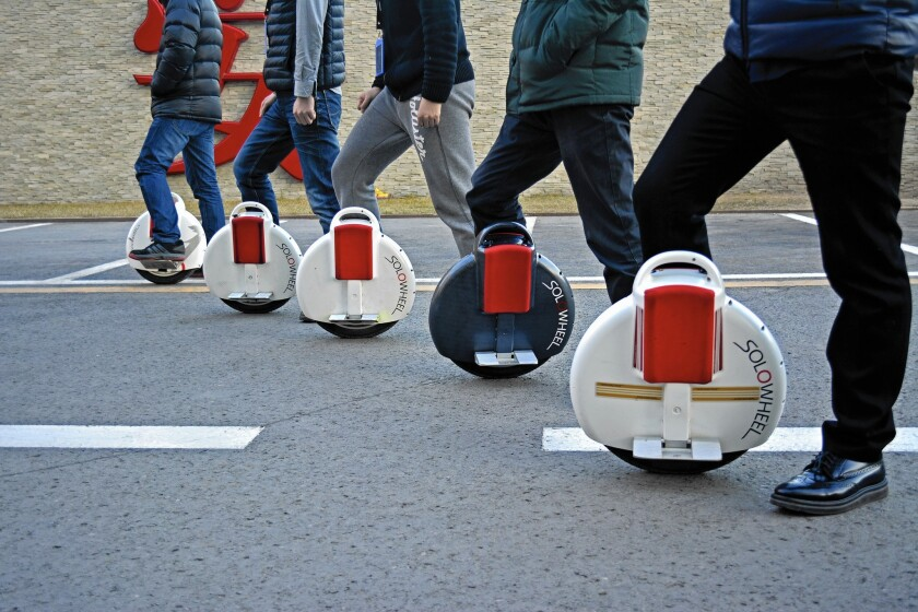 Inventist Inc. began struggling with Chinese counterfeiters in September 2013, when the Solowheel was featured on a Chinese television show.