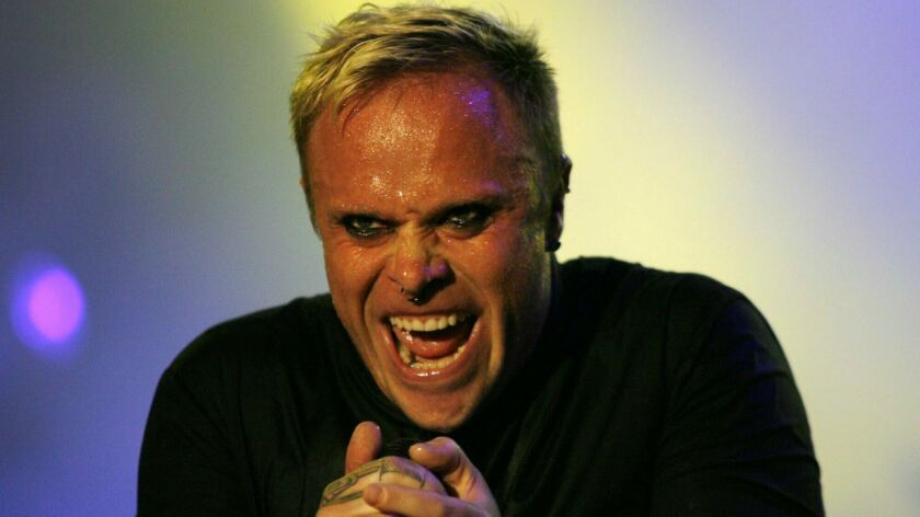 FILE - In this Saturday, July 14, 2007, file photo frontman Keith Flint of British band Prodigy perf