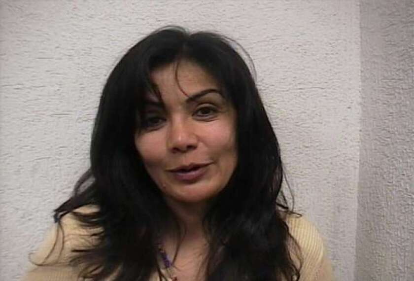 """Sandra Avila Beltran, known as the """"Queen of the Pacific,"""" is seen in a photo taken after her 2007 arrest in Mexico City."""