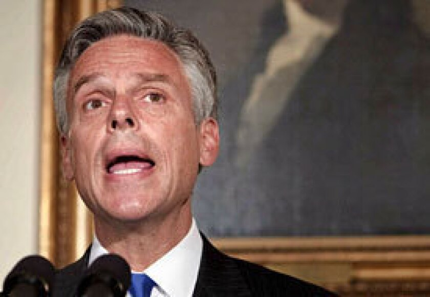 Jon Huntsman Jr., who is running again to be governor of Utah, says he will isolate himself while his campaign continues.